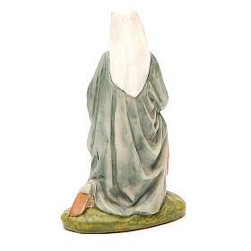 Sainte Vierge en résine peinte pour crèche 10 cm gamme M. Landi s2