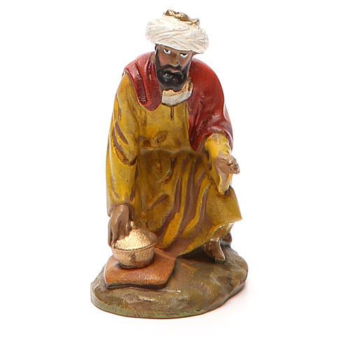 Rey mago Gaspare resina pintada 10 cm Linea Landi 1
