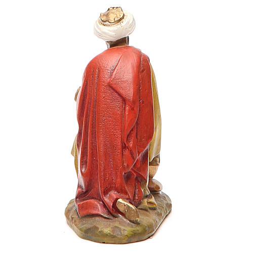 Rey mago Gaspare resina pintada 10 cm Linea Landi 2