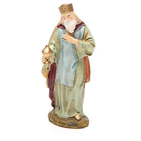 King Melchior in painted resin 10cm Martino Landi Collection s1