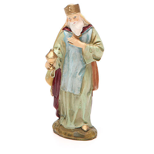 King Melchior in painted resin 10cm Martino Landi Collection 1
