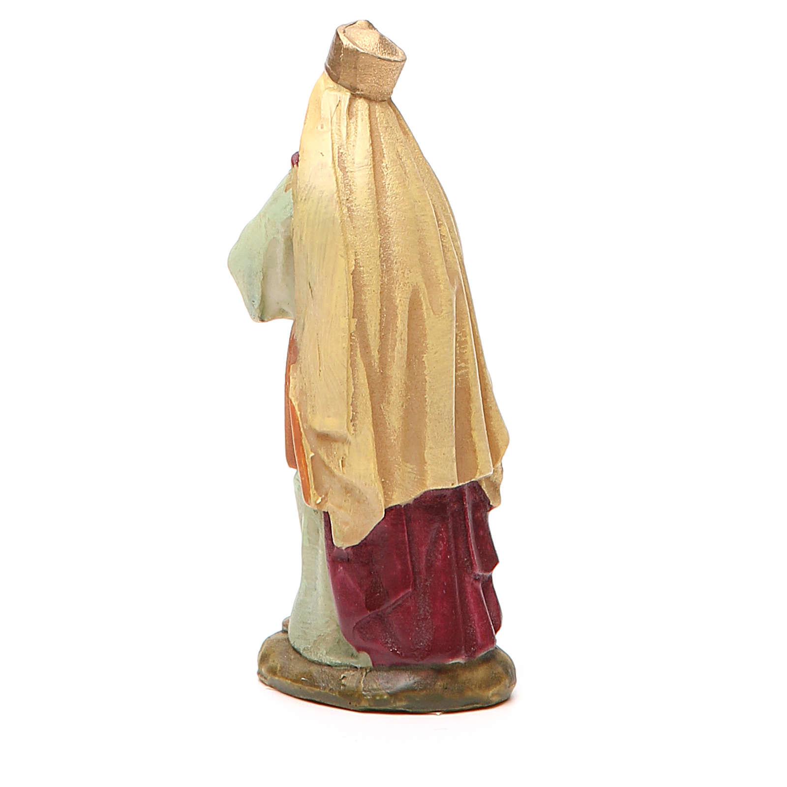 Roi Mage Melchior résine peinte 10 cm gamme M. Landi 3