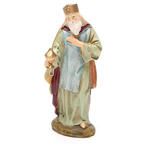 Roi Mage Melchior résine peinte 10 cm gamme M. Landi 1