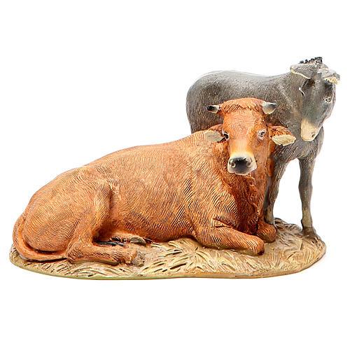 Natividade boi e burro resina pintada 12 cm Linha Martino Landi 4