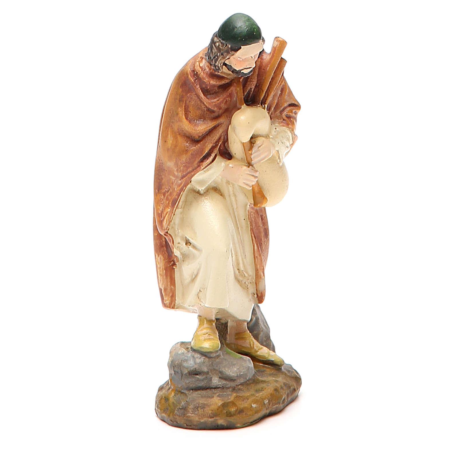 Pastor con gaita pintada 10 cm Linea M. Landi 3