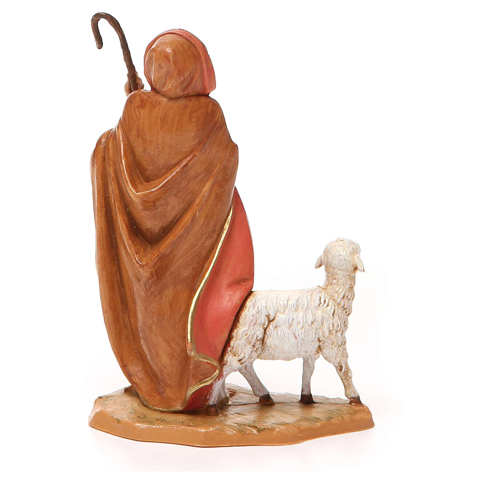 Buon pastore pecorella Presepe 12 cm Fontanini 3