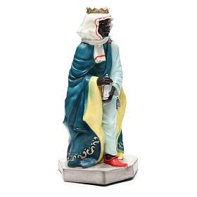 Statua Baldassarre Re Magio per presepe 65 cm s4