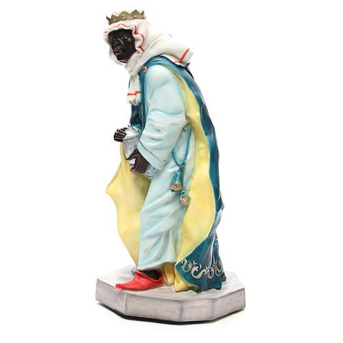 Statua Baldassarre Re Magio per presepe 65 cm 2