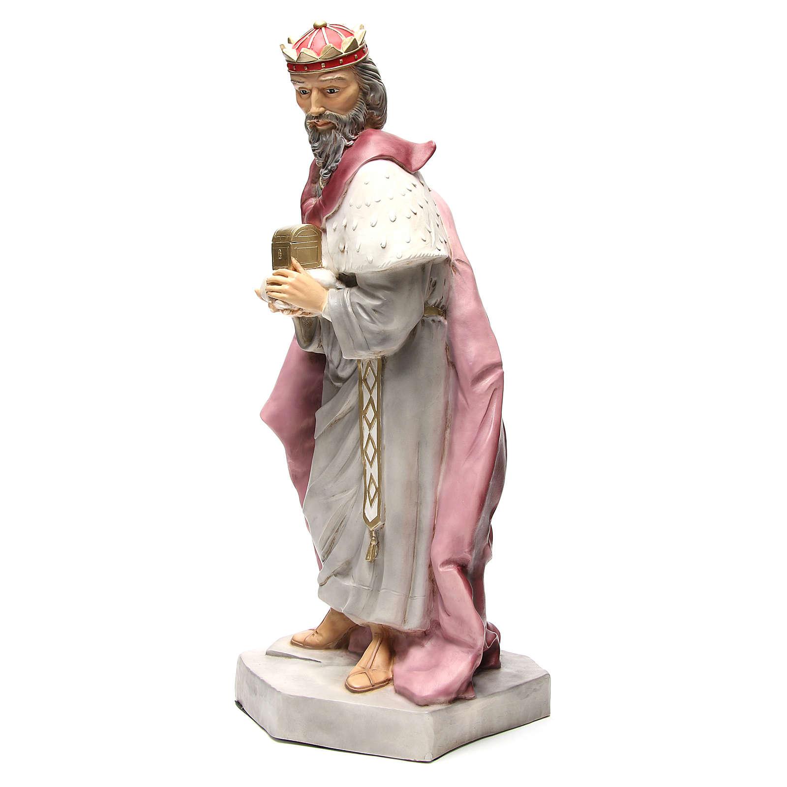 Statua Gaspare Re Magio per presepe 65 cm 3
