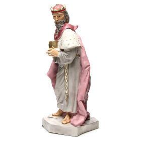 Statua Gaspare Re Magio per presepe 65 cm s2