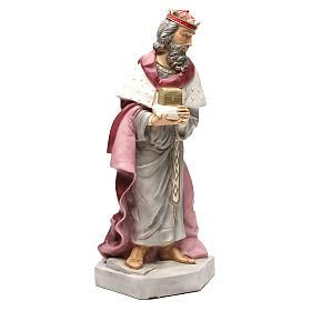 Statua Gaspare Re Magio per presepe 65 cm s4