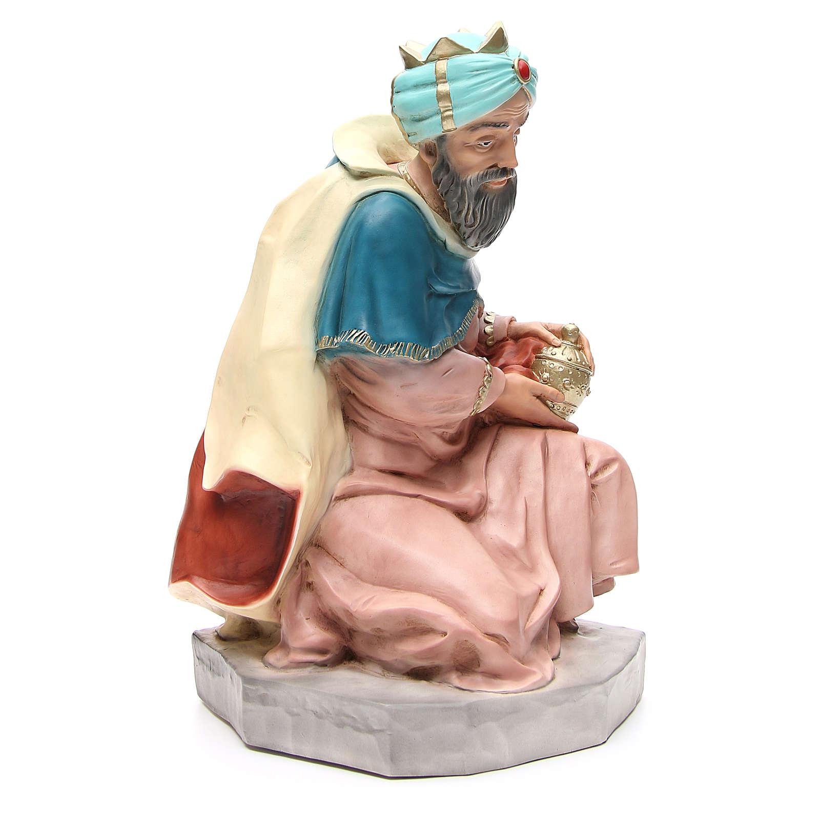 Statua Melchiorre Re Magio per presepe 65 cm 3