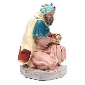 Statua Melchiorre Re Magio per presepe 65 cm s4