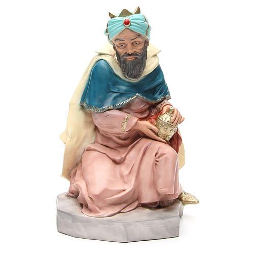 Statua Melchiorre Re Magio per presepe 65 cm 1