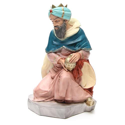 Statua Melchiorre Re Magio per presepe 65 cm 2