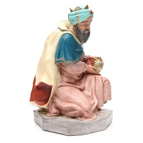 Statua Melchiorre Re Magio per presepe 65 cm 4