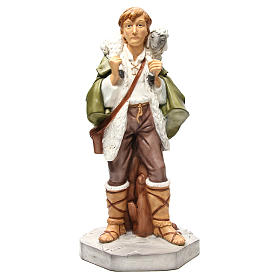 Shepherd with sheep figurine for 65cm nativity s1