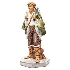 Shepherd with sheep figurine for 65cm nativity s2