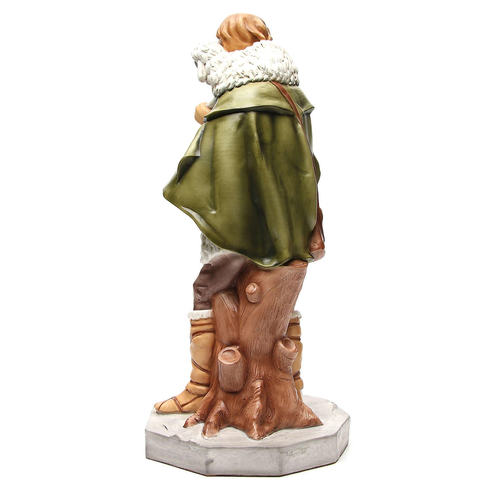Statua pastore con pecora per presepe 65 cm 3