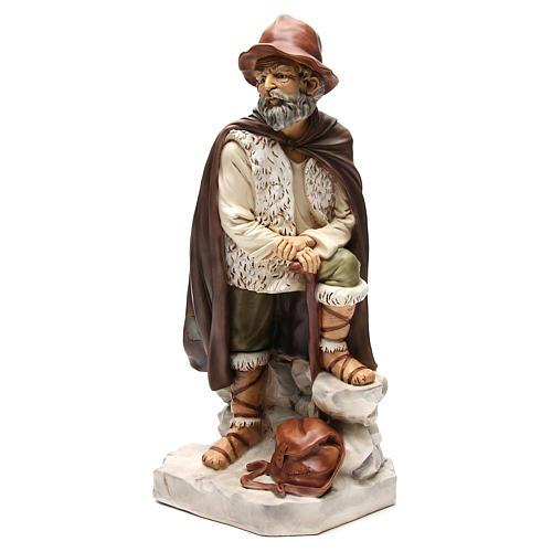 Figura pastor con alforja para belén 65 cm 2