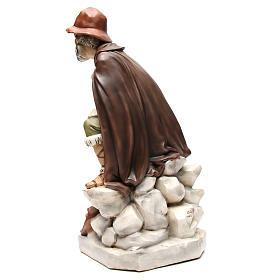 Statua pastore con bisaccia per presepe 65 cm s3