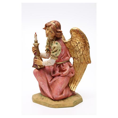 STOCK Angelo in ginocchio 52 cm rosa presepe Fontanini 2