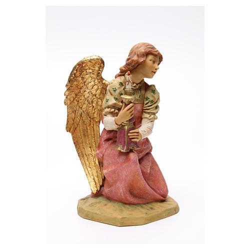 STOCK Angelo in ginocchio 52 cm rosa presepe Fontanini 4