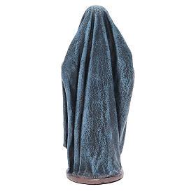 Donna con cesta di pane 17 cm Statua terracotta s3