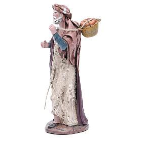 Pastore con cesta presepe terracotta 17 cm s2