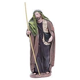 Pastor con alforja terracota belén 17 cm s1