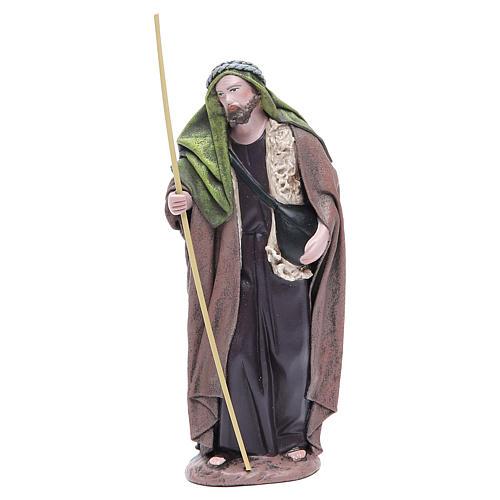 Pastore con bisaccia terracotta presepe 17 cm 1