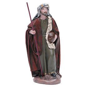 Pastore Viandante in terracotta presepe 17 cm s1