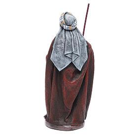 Pastore Viandante in terracotta presepe 17 cm s3
