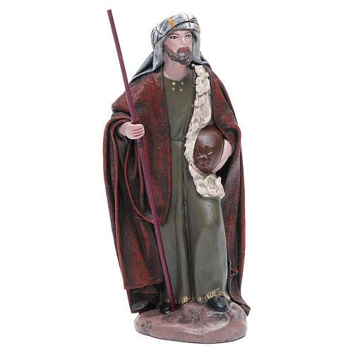 Pastore Viandante in terracotta presepe 17 cm 1