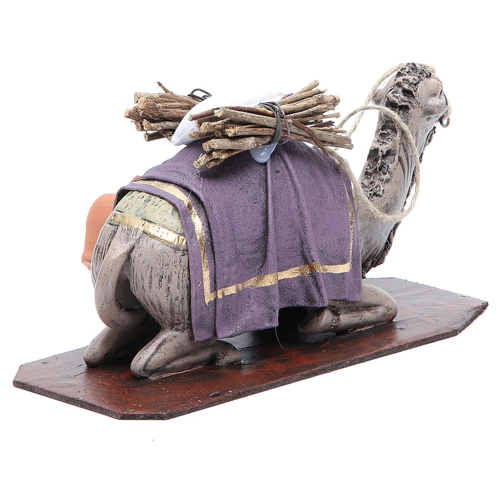Camello en rodillas terracota 17 cm 3