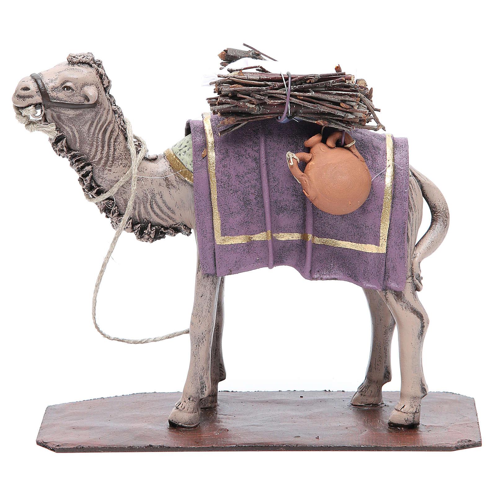 Cammello in terracotta con carico 17 cm 3