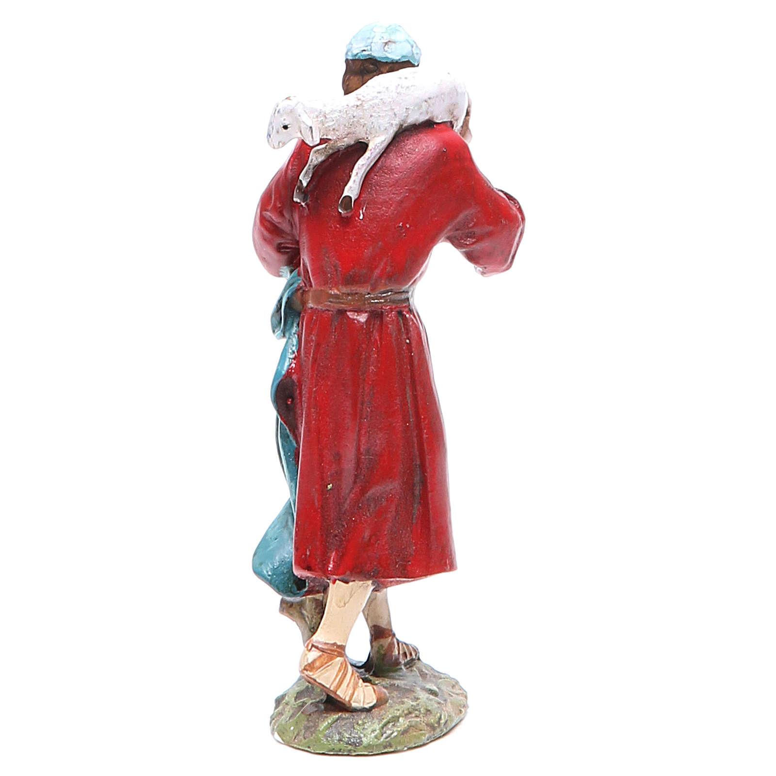 Pastor con oveja en la cabeza 10 cm Linea Masrtino Landi 3