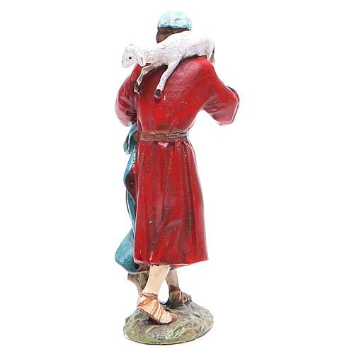 Pastor con oveja en la cabeza 10 cm Linea Masrtino Landi 2