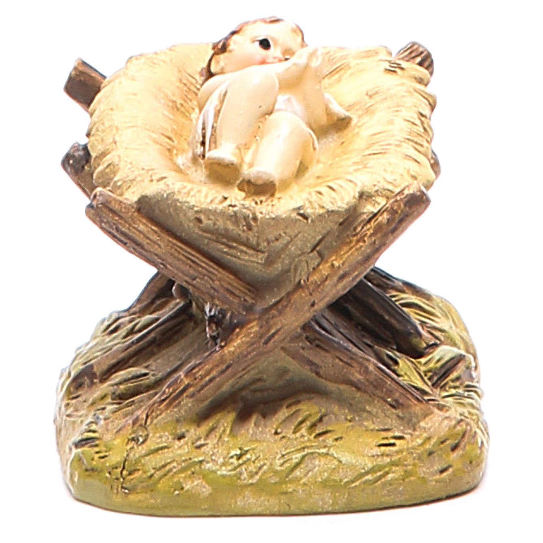 Gesù Bambino con culla cm 10 Linea Martino Landi 3