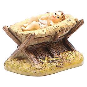 Gesù Bambino con culla cm 10 Linea Martino Landi s3