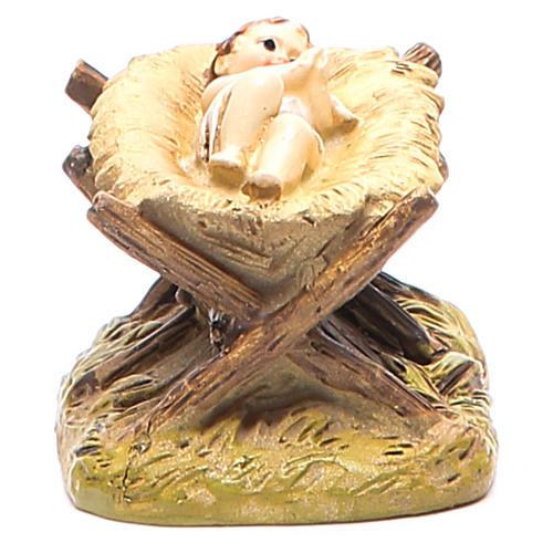 Gesù Bambino con culla cm 10 Linea Martino Landi 2
