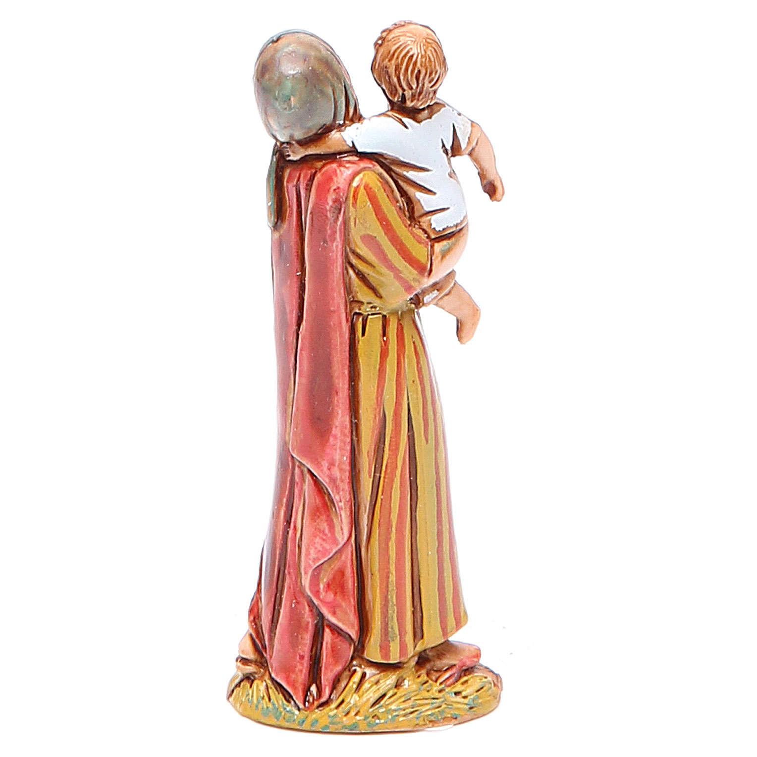 Mujer con niño 6,5 cm Moranduzzo en trajes de época 4