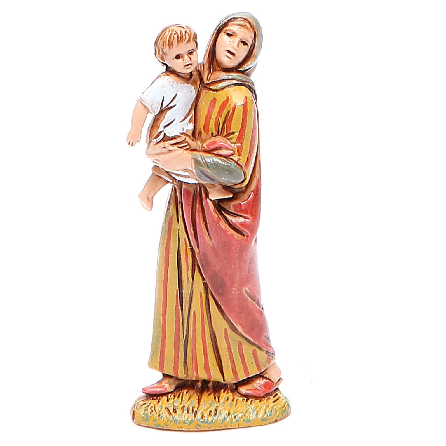 Donna con bimbo 6,5 cm Moranduzzo stile storico 4