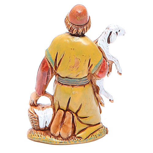 Shepherd carrying sheep 6.5cm by Moranduzzo, historic costumes 2