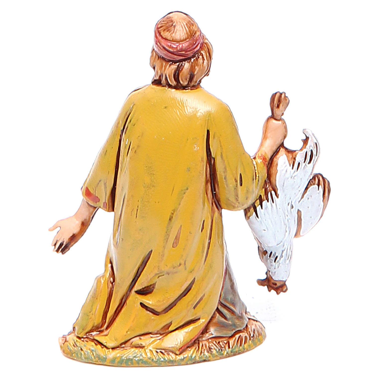 Hombre de rodillas 6,5 cm Moranduzzo en trajes de época 4