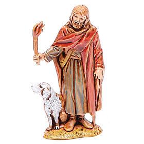 Presépio Moranduzzo: Viajante com tocha para presépio Moranduzzo com figuras de altura média 6,5 cm costumes históricos