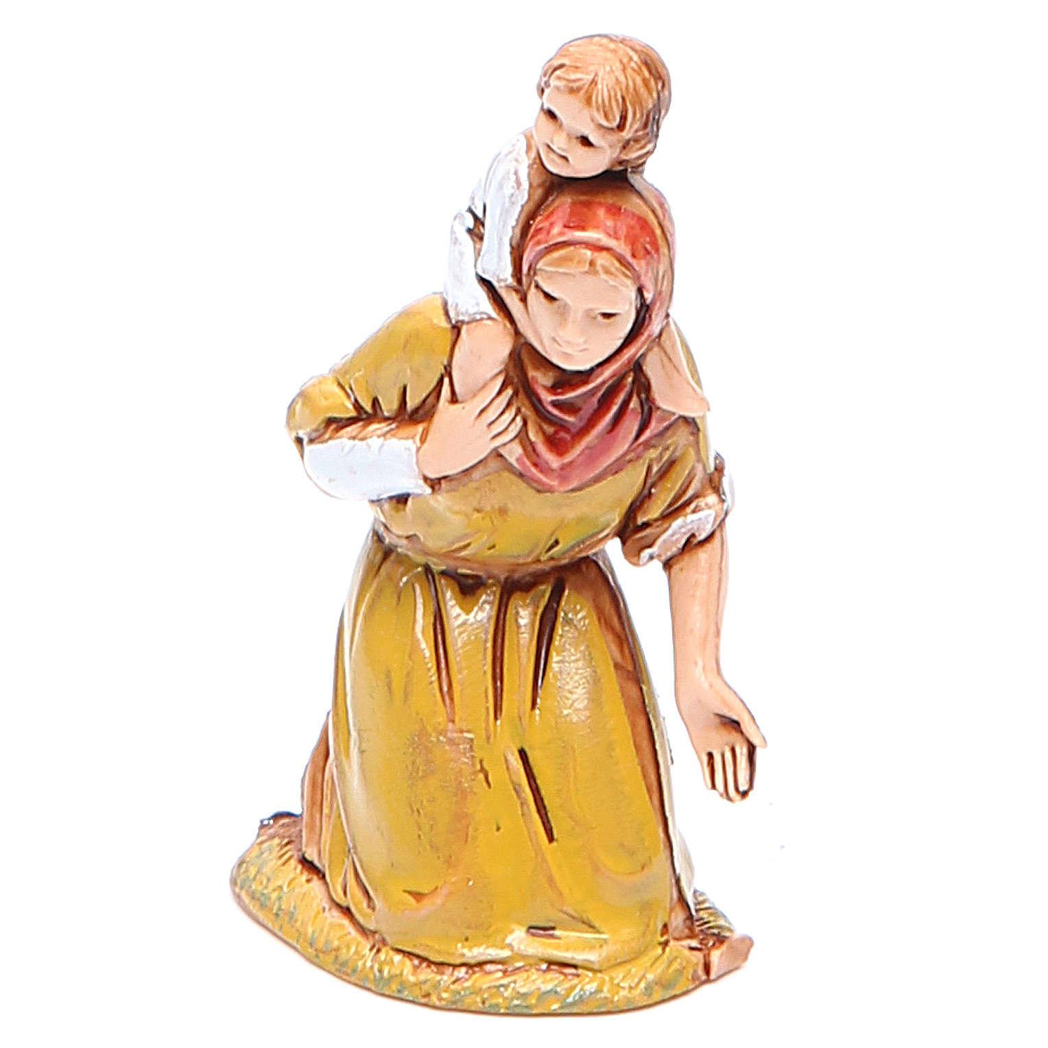 Frau mit kind 6,5cm Moranduzzo historischen Stil 4