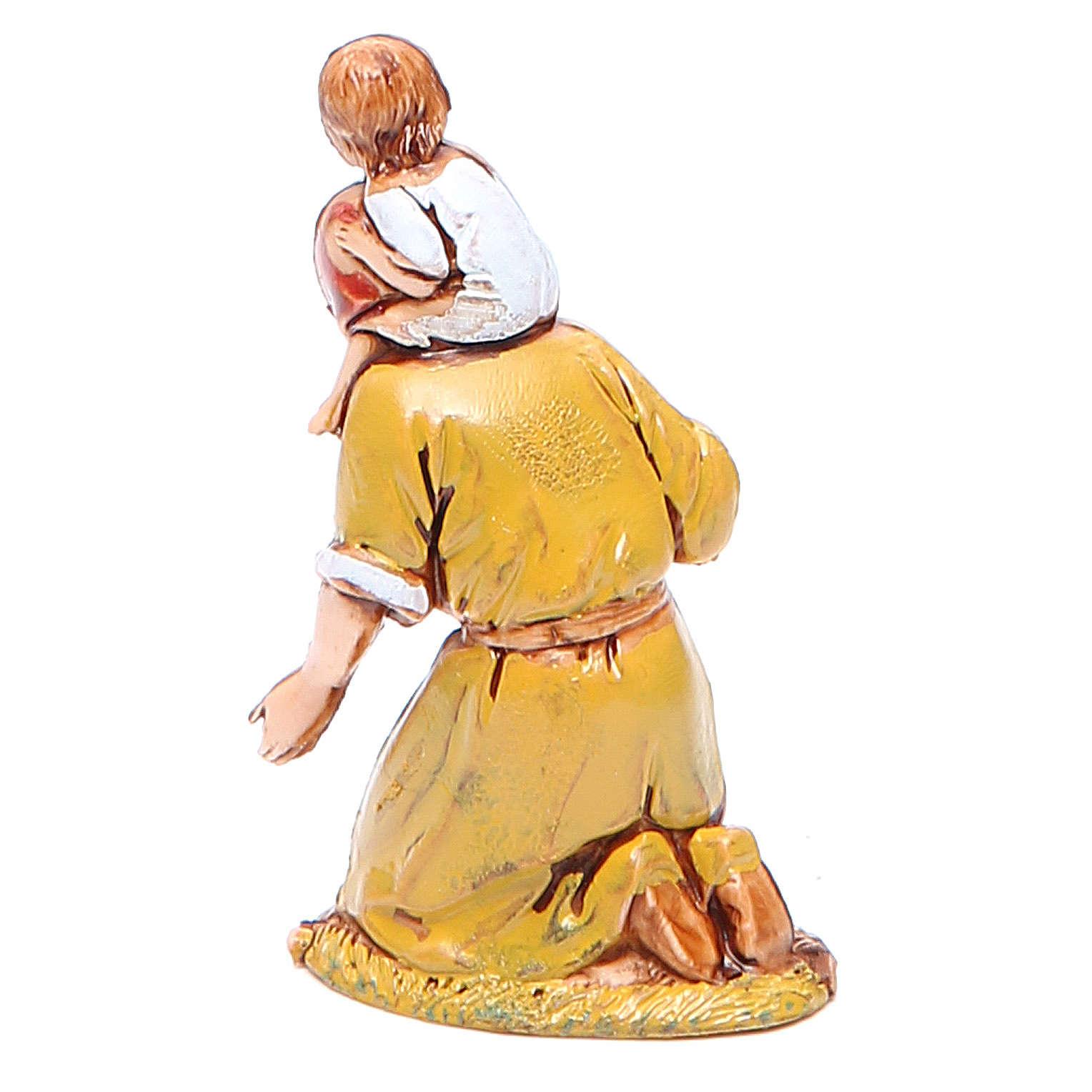 Mujer en adoración y niño 6,5 cm Moranduzzo en trajes de época 4