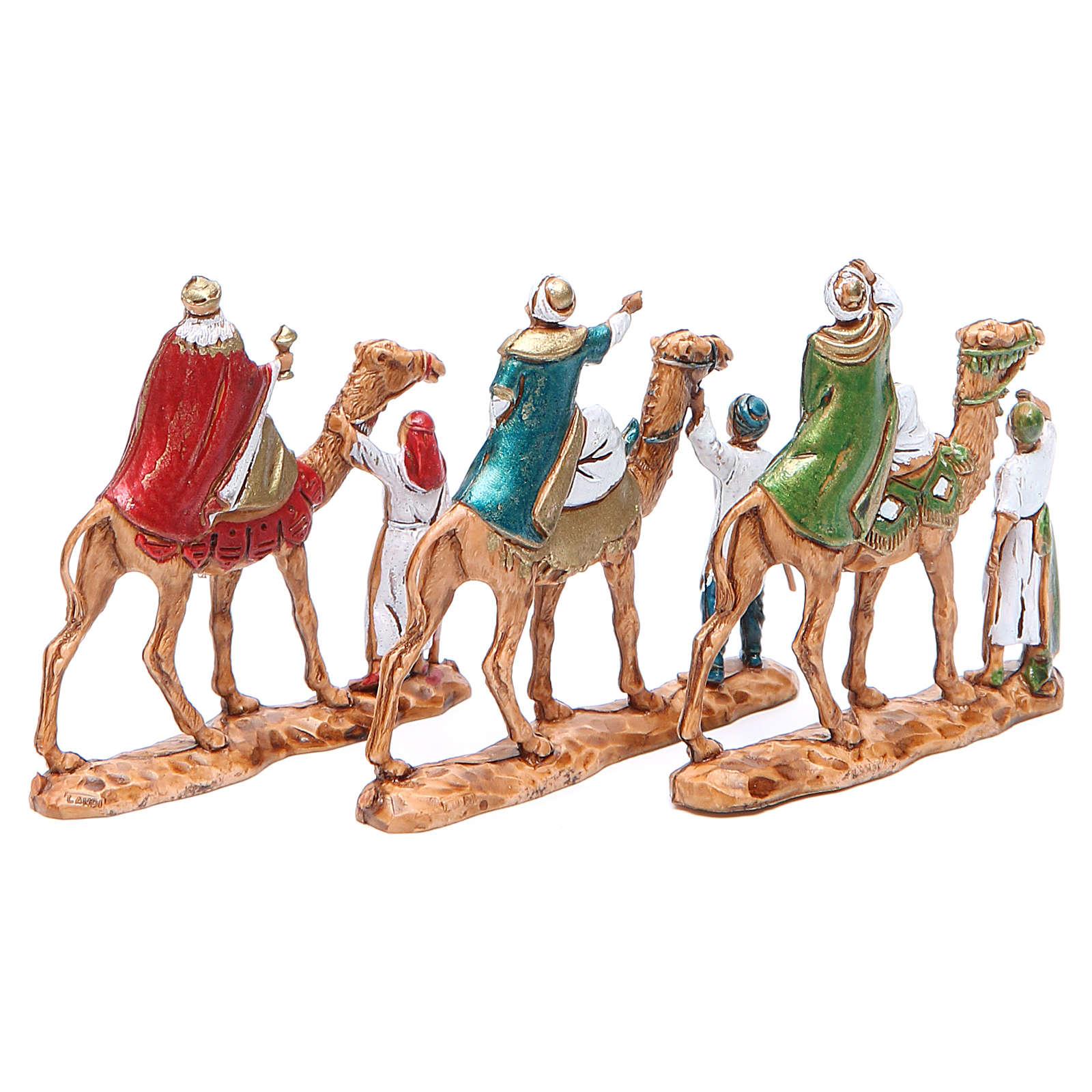 Reyes Magos y camellos 3,5 cm Moranduzzo 3 figuras 4