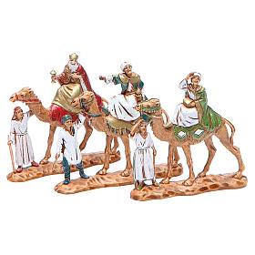 Reyes Magos y camellos 3,5 cm Moranduzzo 3 figuras s1